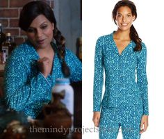 """We saw Mindy's blue print pjs from""""Stay at Home MILF"""" once before in """"No More Mr Noishe Guy""""!"""