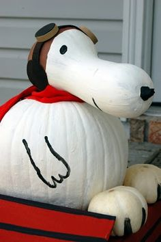 Literacy night book character pumpkin I made last year! Snoopy