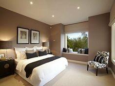 ventanas modernas con asiento para el dormitorio - #decoracion #homedecor #muebles