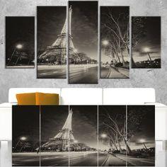 DESIGN ART Paris Eiffel Tower Light Performance Show in Dusk - Cityscape print