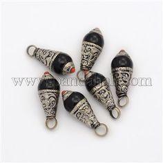 Handmade Tropfen Anhänger tibetischen StilTIBEP-M033-11-1