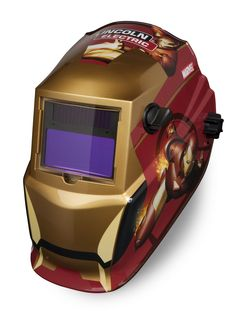 Iron man welding helmet.  My husband would die to have this!