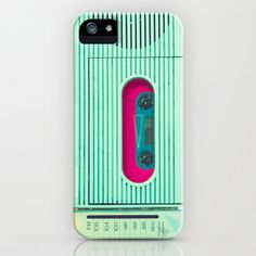 Love this. Reminds me of my GE Side Step boombox from 1987. iPhone 5 Case iPod Case Samsung galaxy S4 iPhone 5 by CarolineMint, $45.00