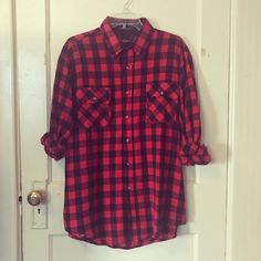 Vintage buffalo plaid flannel