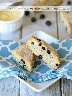 Grain free Blueberry Lemon Scones! Gluten free, paleo