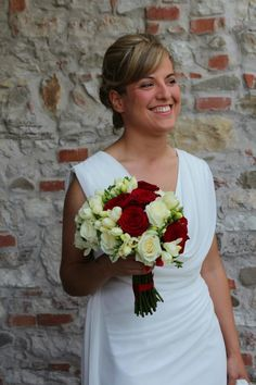 Red and White Bride's Bouquet