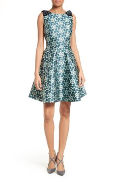 Main Image - Ted Baker London Sainte Kaleidoscope Faille Fit & Flare Dress