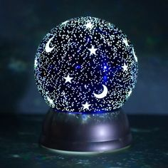 Moon and Stars Light-Up Water Globe - Cracker Barrel Old Country Store Water Globes, Snow Globes, Night Light, Light Up, Galaxy Bedroom, Old Country Stores, Cute Room Decor, Crystal Ball, Stars And Moon