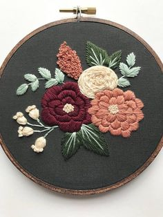 This complete floral embroidery kit includes: « Printed cotton fabric « 5 embroidery hoop « Full skeins of DMC embroidery floss « Embroidery Needle « PDF stitching guide along with tips (emailed after purchase, will not be shipped) This kit is suitable for stitchers of all