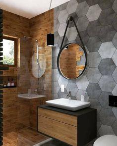 Over 40 Small Bathroom Ideas For Compact Spaces, Cloakroom & Showers New 2020 - . - Over 40 New Bathroom Ideas for Compact Spaces, Cloakroom and Showers New 2020 – Page 14 of 41 – - Bathroom Design Luxury, Modern Bathroom Design, Bad Inspiration, Bathroom Inspiration, Small Bathroom, Large Bathrooms, Wood Bathroom, Bathroom Layout, Bathroom Ideas
