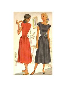 1940s McCall Sewing Pattern Tea Dress by AdeleBeeAnnPatterns, $17.50