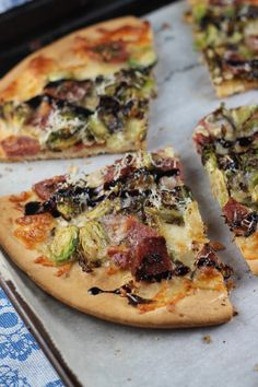 Brussels Sprouts & Salami Pizza