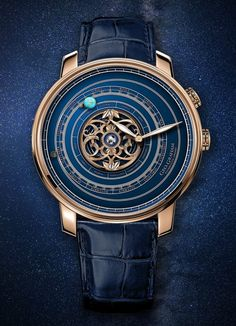 Graham Geo.Graham Orrery Tourbillon Astronomical Watch. Featuring an astronomical function which seeks to track the relative movements of the Earth, Moon, and Mars around one another, as well as the sun