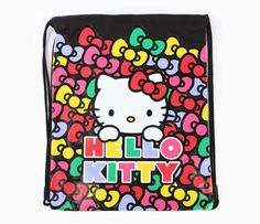 Hello Kitty Canvas Drawstring Bag: Multi Bow
