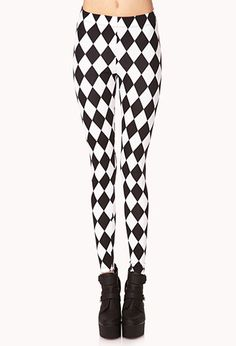 Mod Checkered Leggings | FOREVER21 - THE 90S ARE BACK
