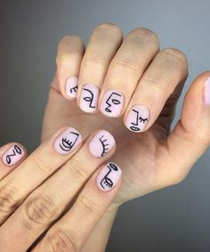 15 Ways to Wear Modern Art Masterpieces on Your Fingertips Petite Picasso nail art design galleryfrench tip nail designs for short nails nail stickers walmart nail appliques essie nail stickers Crazy Nail Art, Red Nail Art, Fall Nail Art, Cute Nail Art, Acrylic Nail Art, Cute Nails, Diy Nails, How To Nail Art, Trendy Nails
