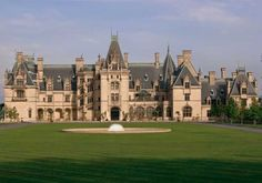 Biltmore Mansion, Asheville, North Carolina Built by George Washington Vanderbilt II in the style of a chateau, this residence is considered one of the most outstanding examples of the Gilded Age. At 175,000 square feet, it is the largest privately-owned house in the United States. Its formal French gardens and rolling English landscape draw thousands of visitors every year.