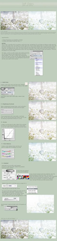 Creating beautiful soft clear colours with this great photoshop tutorial from Julie Starr.