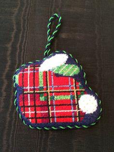 Plaid Bunny Ornament ~ Canvas design by Associated Talents