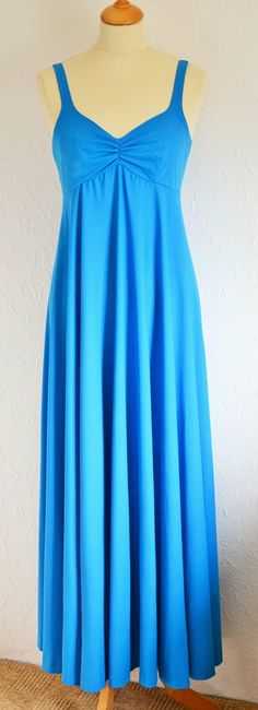 60s Vintage Blue Maxi Dress by Lerose UK by VeryVintageClothing, £26.00