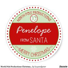 Shop North Pole Productions Christmas Sticker Tags created by lucyandgreer. Christmas Cookie Exchange, Christmas Stickers, Christmas Gift Tags, Christmas Crafts, Vintage Christmas, Christmas Stationery, Holiday Essentials, Candy Crafts, North Pole