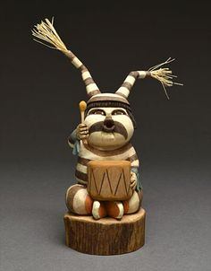 Clown Kachina Doll by Gene Dawahoya (Hopi)