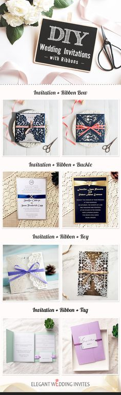 Invitation that you can diy with from Elegant Wedding Invites#diy#invitations#weddings