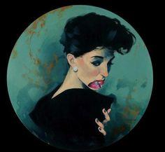 Fernando Vicente, Beso sour, acrylique sur toile, 60x60cm ©