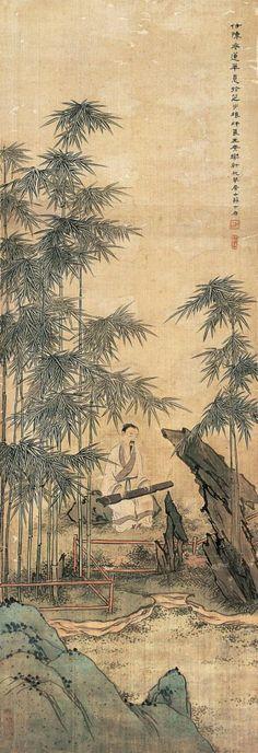 Alone amongst the bamboo