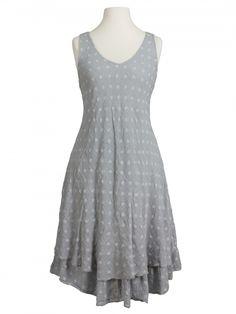 Damen Kleid im Lagenlook, grau von Diana bei www.meinkleidchen.de