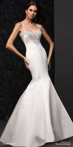 11 gored full trumpet skirt strapless sweetheart neckline gown.