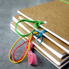 An easy and inexpensive way to create memory books. (by Swoon)