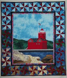 Quilt Pattern:  Big Red Lighthouse - $12.00 - Handmade Commercial Supplies, Crafts and Unique Gifts by Quilts by Elsie