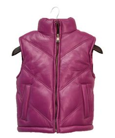 Look at this #zulilyfind! Tanners Avenue Pink Leather Chevron Bubble Vest - Infant, Toddler & Girls by Tanners Avenue #zulilyfinds