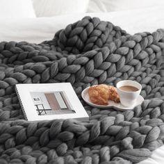 Chunky blanket, mooie structuur en vast lekker warm :)