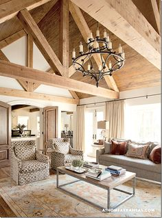 double solid doors that would screen off kitchen, awesome cathedral ceiling!