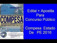 Edital Apostila Para Concurso Público Compesa  Estado De   PE 2016