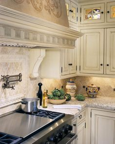 Stone Around Stove Kitchens Pinterest Traditional