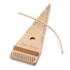 CHERRY BOWED PSALTERY | wood instrument, handmade | UncommonGoods