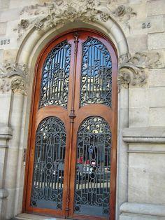 Ironwork in Barcelona by marleis Eclectic Doors, Barcelona, Cool Doors, Iron Work, Grand Entrance, Perfect World, Door Knockers, Dream Decor, Doorway