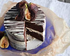 Gluten Free Chocolate Cake with Red Wine-Soaked Figs and Vegan Buttercream  recipe - Foodista.com