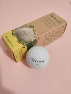 Dixon earth golf balls. 1) Company uses recyclable paper, encourages employees to use coffee mugs, recyclable water bottles, and to carpool or use public transportation. 2) Golf balls are made from rock salt instead of heavy metals so it can break down in 6-8 months. 3) Uses recycled paper for packaging needs. 4) Hats are made from bamboo/cotton that is not chemically treated. 5) Plant a tree for every item bought.