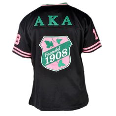 Black Sports Jersey for Alpha Kappa Alpha - (back of jersey)