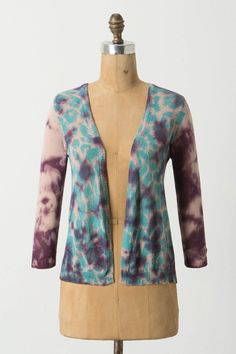 Tie-dye cardigan, a combination of two loves....