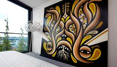 Street art finds a place in the home: Some of the biggest names in Sydney street art decorate a high-end penthouse in Chippendale.