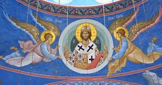 Christian Artwork, Byzantine Icons, Hagia Sophia, Orthodox Icons, Religious Art, Jesus Christ, Disney Characters, Pictures, Painting