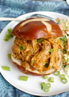 Have you ever wondered how to make a pork tenderloin in the slow cooker? It be used in a variety of ways from traditional sliced tenderloin to rice bowls. Best Slow Cooker, Slow Cooker Recipes, Crockpot Recipes, Delicious Recipes, Making Pulled Pork, How To Cook Pork, Pork Recipes, Sandwich Recipes, Slider Recipes