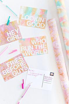 DIY Patterned Postcard Messages