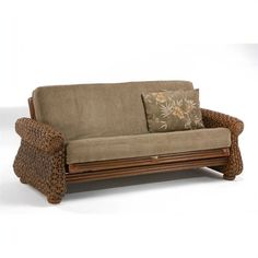 tropical futon frame | FastFurnishings.com | Rattan Iris Futon Frame