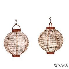 Burlap Light-Up Lanterns